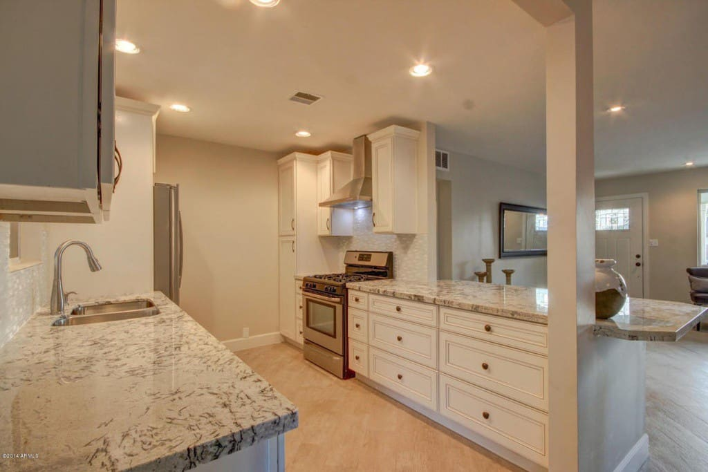 Modern Kitchen with granite and all stainless steel amenities