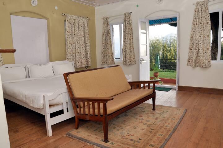 Bedroom facing garden