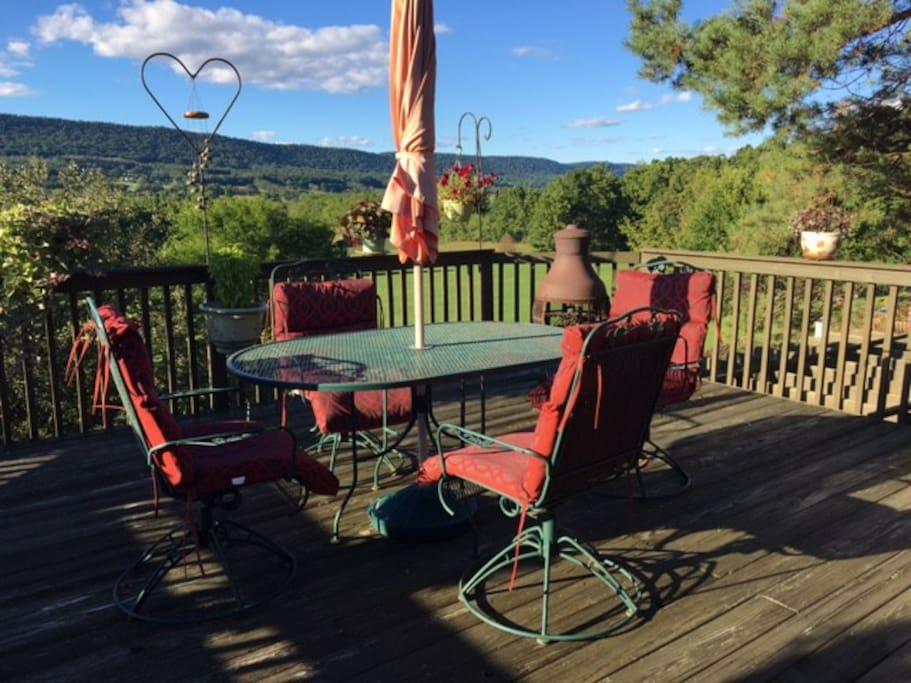 Relax and enjoy beautiful views on 2 decks