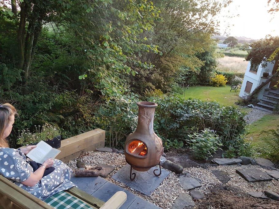 Relax on Chiminea terrace