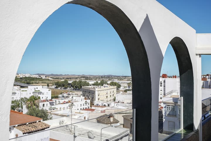 Fantastic views from the Rooftop of the comfortable and elegant house Casa Mila