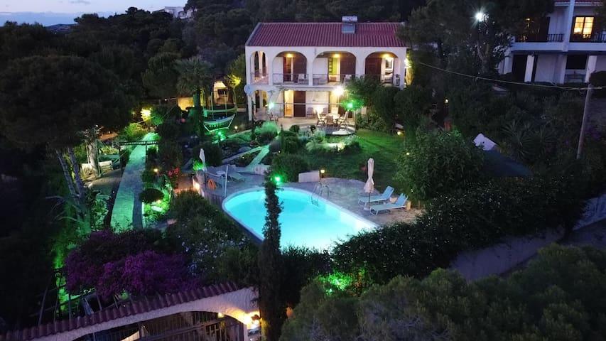 VILLA DRYAS-Pool&seaview private Villa-Lagonissi