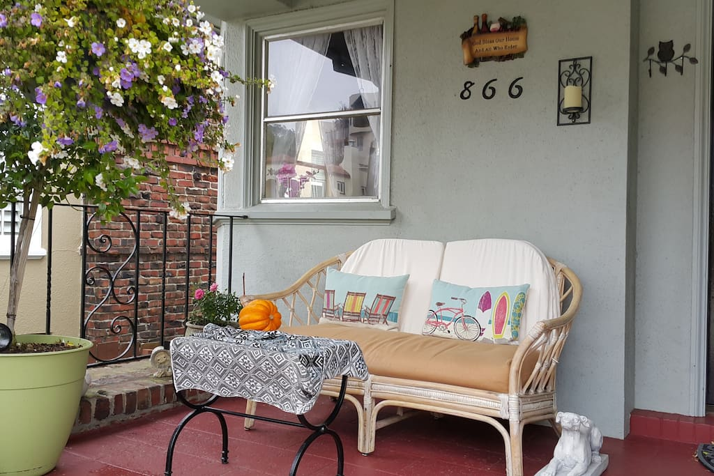 Front porch - where you can sip on your tea and enjoy the view!