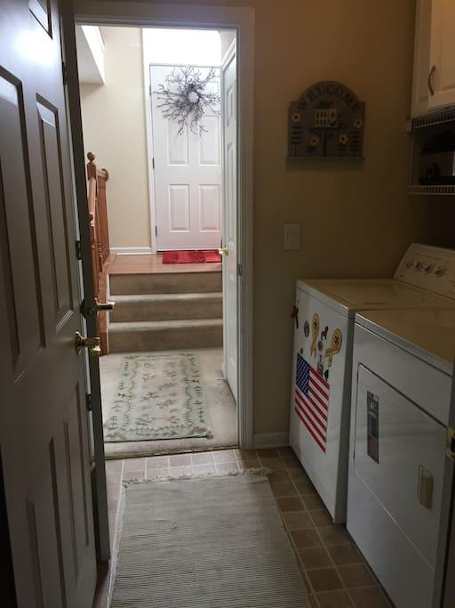 Entrance thru Garage into Laundry