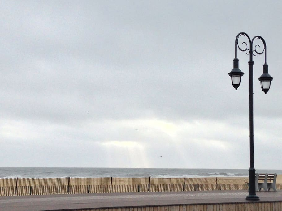 View of the Belmar Beach.