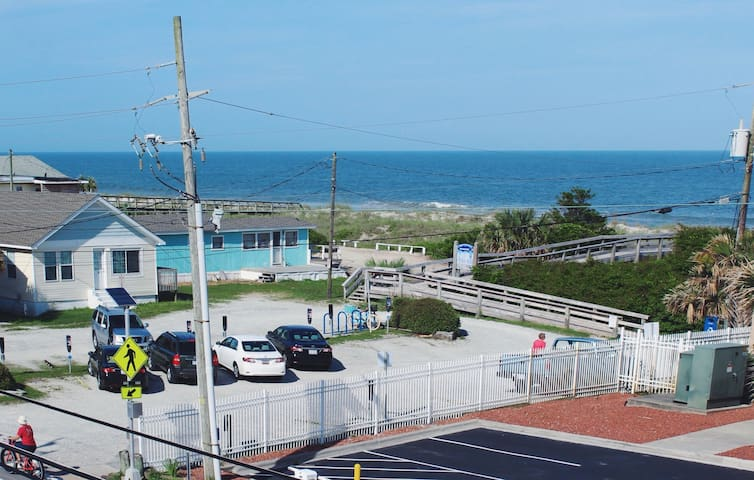 The Kraken's Den is literally across the street from the ocean and beach access. Take the provided beach chairs and have fun in the sun!