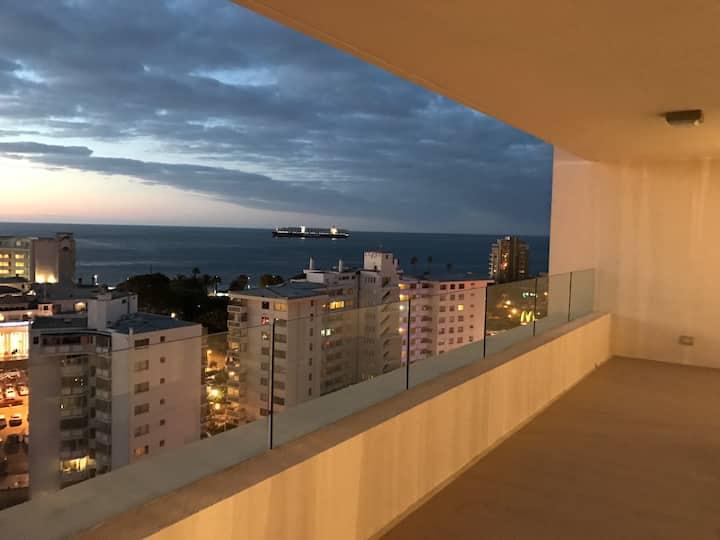 Dpto 2 dormitorios con vista al mar