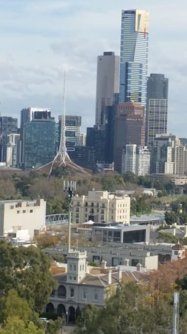 View of CBD from apartment window