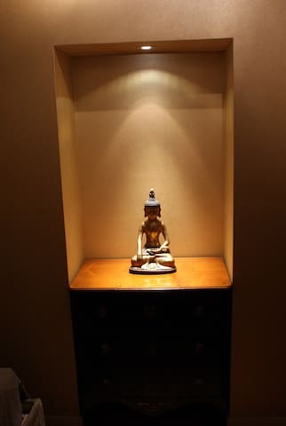 our Budha in the bedroom