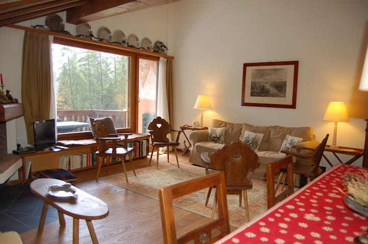 Charming flat with view - Pontresina - Daire