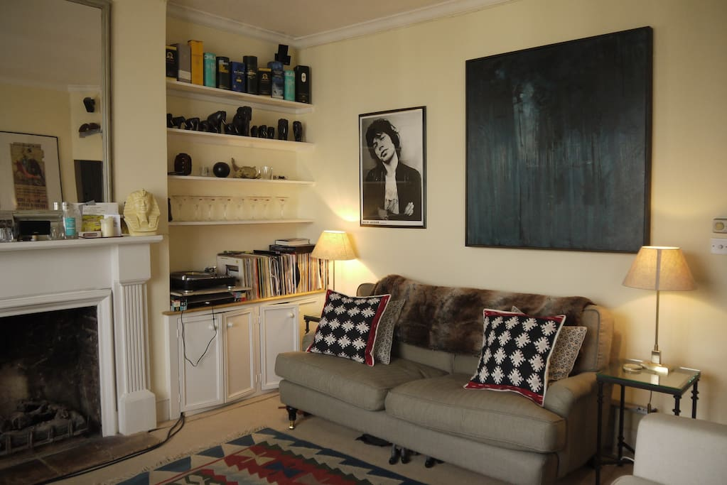 One of two sofas in sitting room.