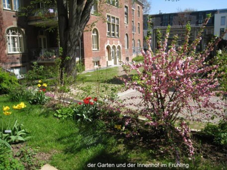 Der Innenhof im Frühling