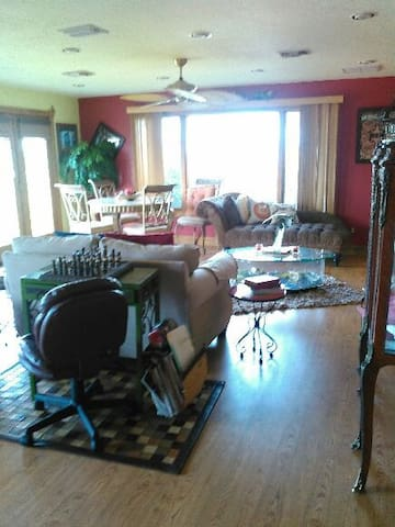 Dining, Lounge, Chess area.