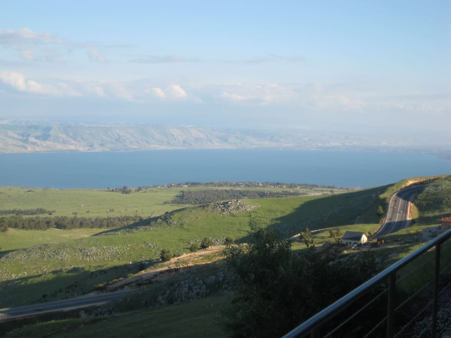 South East View of the Sea of Galilee from the Patio