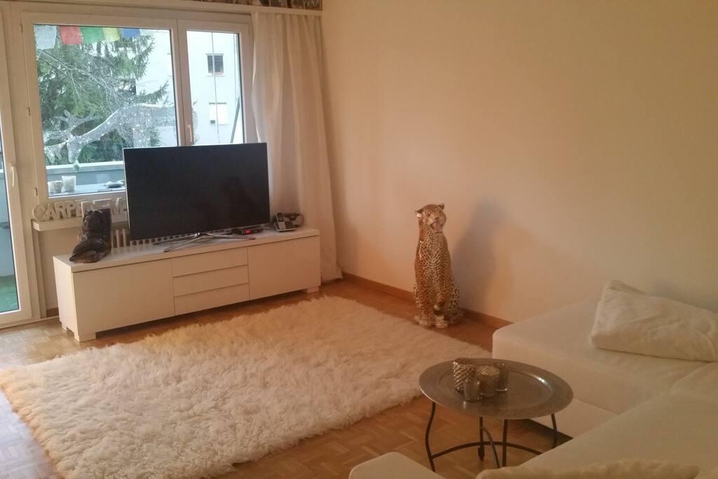 ÖDas Wohnzimmer mit Fernseher, darf gerne mitbenutzt werden...
