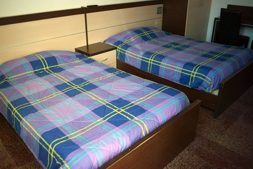 Two large beds.