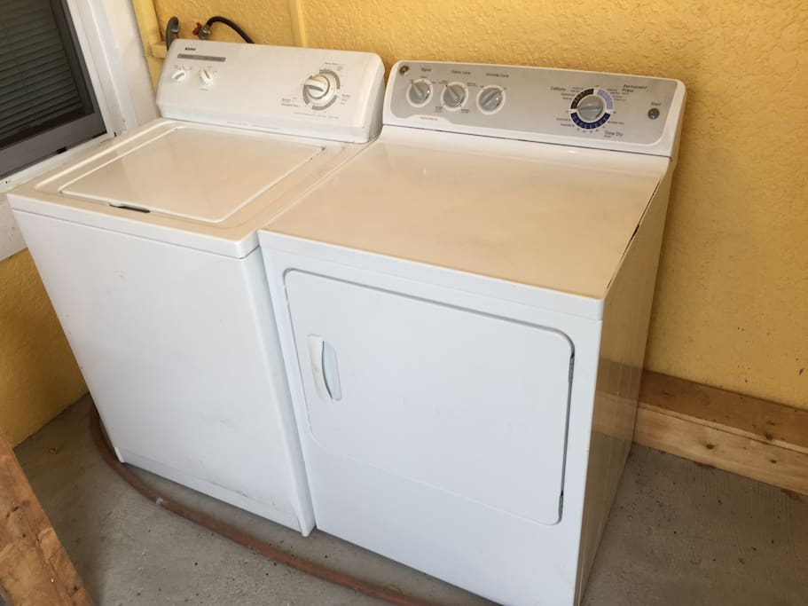 Washer and dryer-Pack less and wash while you're here!