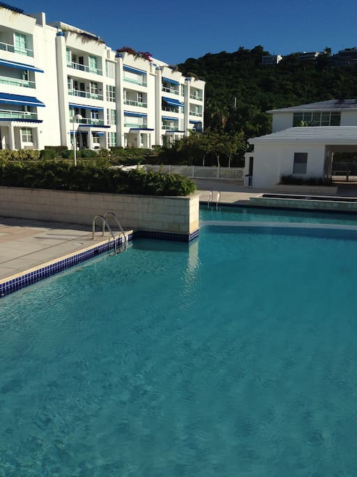 1 of three pools and jacuzzis in complex. Includes gym basketball volleyball and tennis.