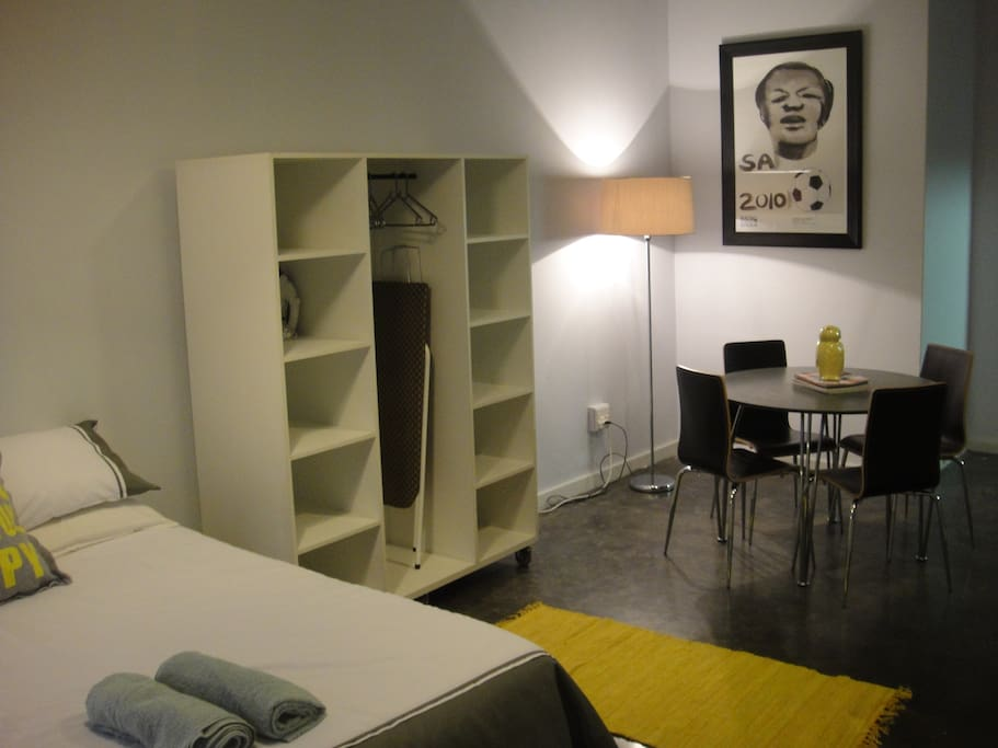 Authentic cosmopolitan maboneng apartments for rent for Living room jozi