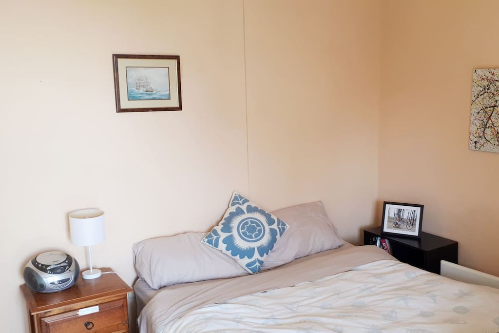 Spacious room with comfortable Queen bed