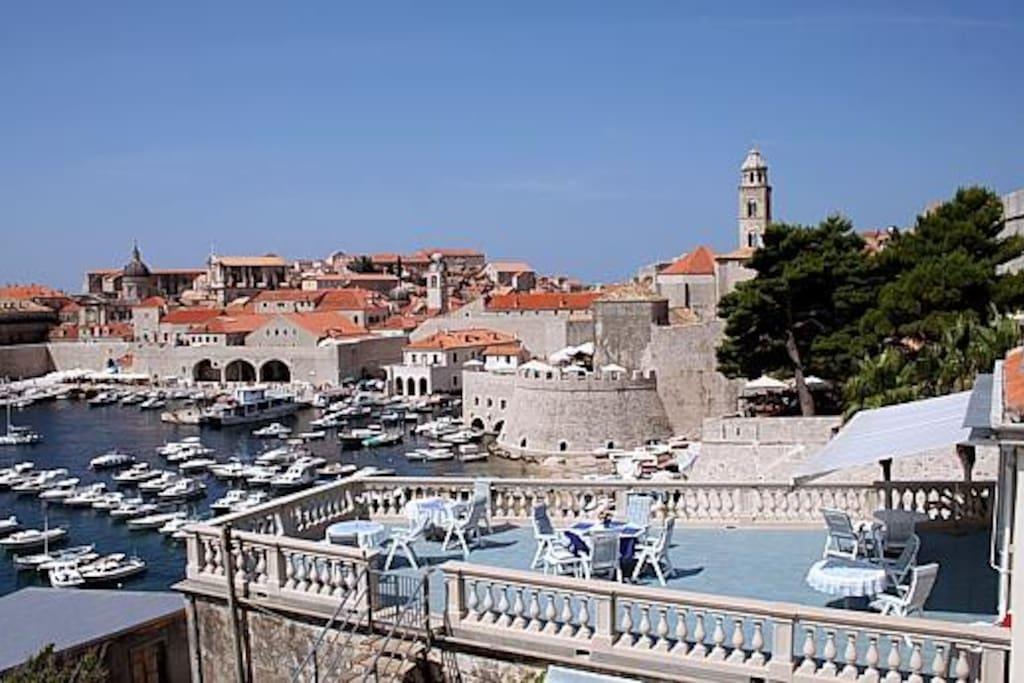 Dubrovnik Old Harbour and our terrace