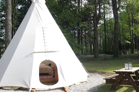Luxury Tipi for 2/4 people - Saint-Pierre-d'Argençon - Kızılderili Çadırı