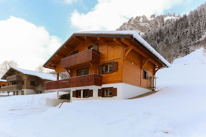 Family owned Chalet Rose ski-out every morning