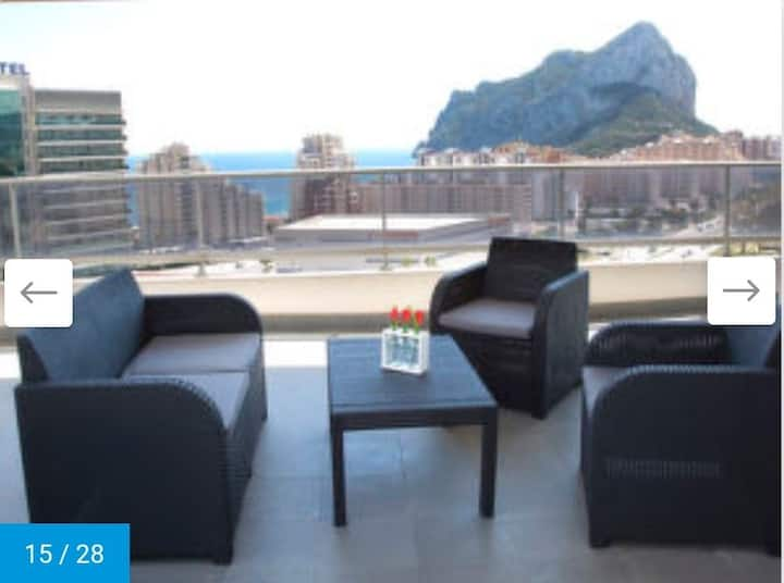 Penthouse with Fab views all over Calp! Brand new