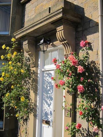 Roses around the front door