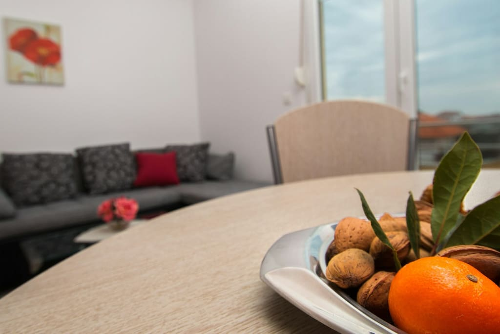 ...newly built and equipped, with furnished kitchen and living area...