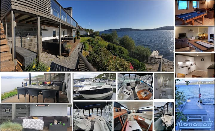 Large seafront retreat - pier, garden, water-sport