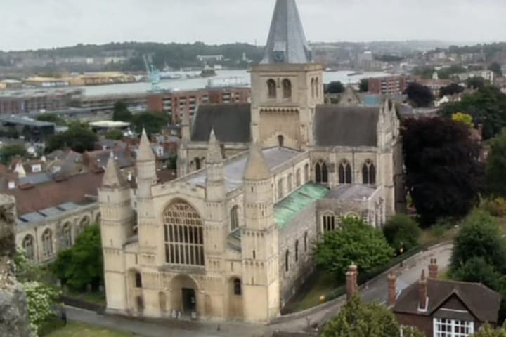 Cathedral and Castle Rochester Chatham Dockside.