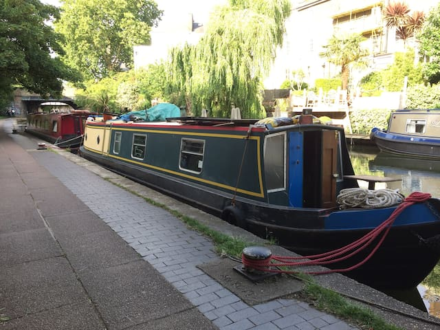 Narrow boat on the London canals