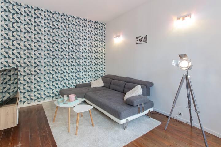 Appartement proche gare et Pompidou avec parking
