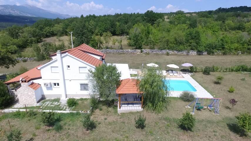 Family villa near the river of Cetina