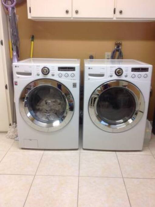 New washer & dryer for your use