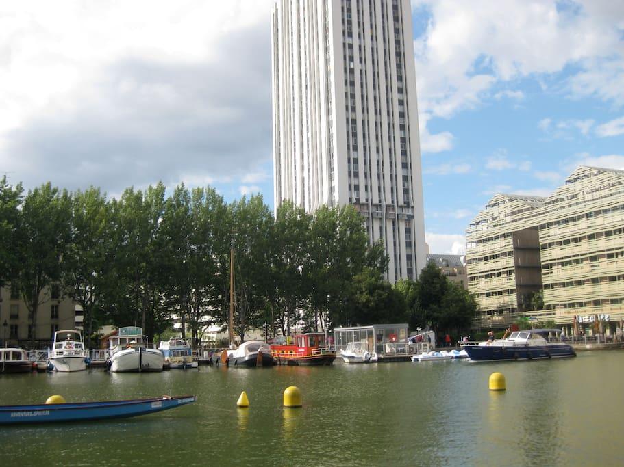 Quartier vivant à la Mode Canal Villette