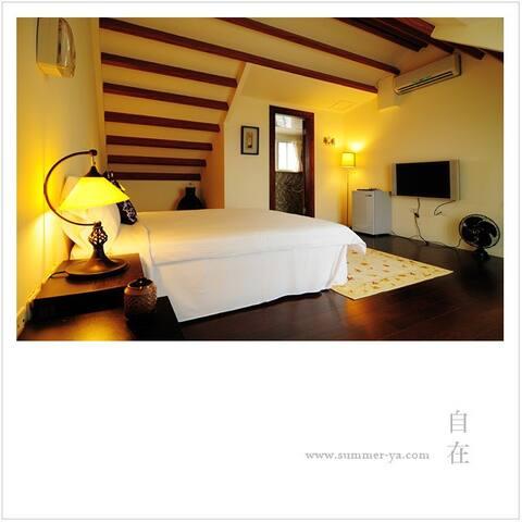 每間房都能舒服的看海~寧靜星空雙人房~還有其他雙人房&四人房