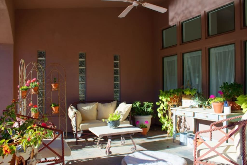 Perfect patio to relax and enjoy the sunsets or to read a book and just relax in the warmth of the Arizona sun.