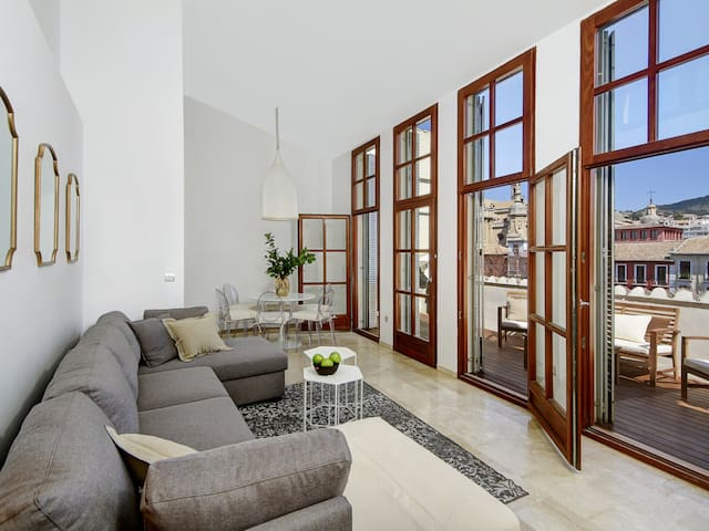 Stunning Bib-Rambla Penthouse private terrace over cathedral