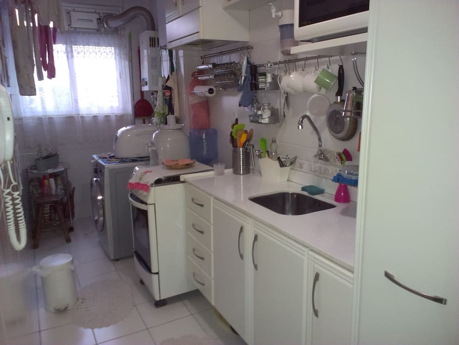 Kitchen with amenities for making your own food