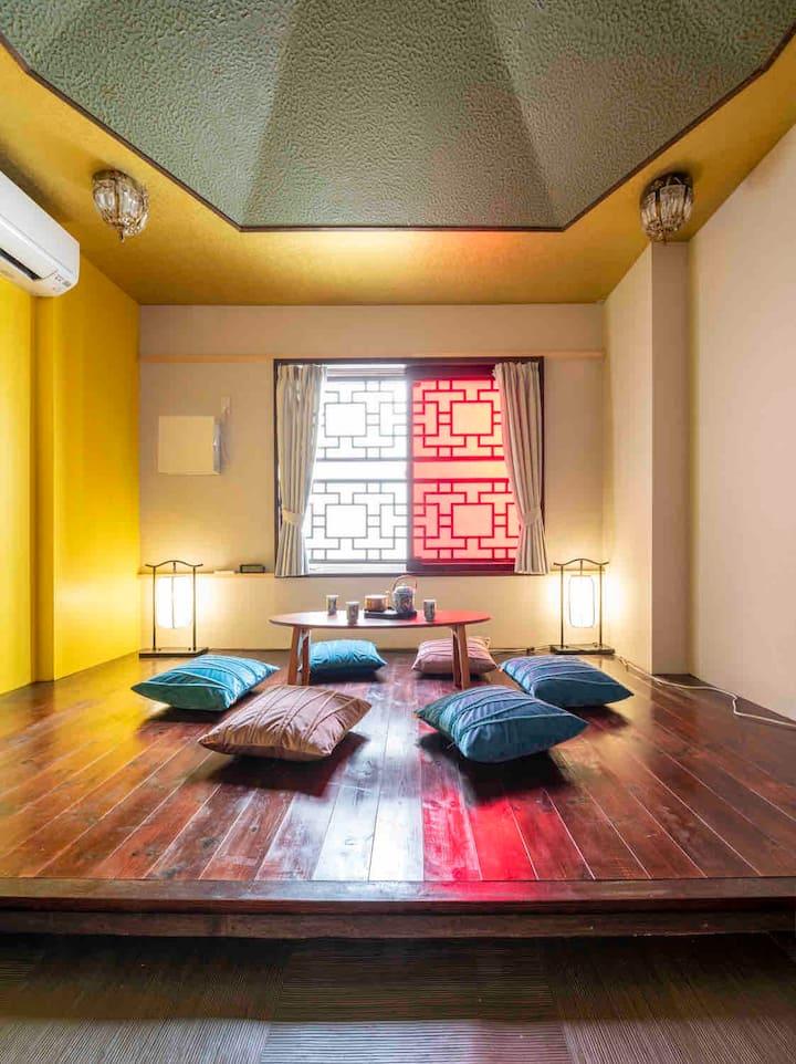 1-A室、横浜中華街に住む上海スタイル !  石川町駅徒歩4分、元町中華街駅7分、羽田空港バス30分