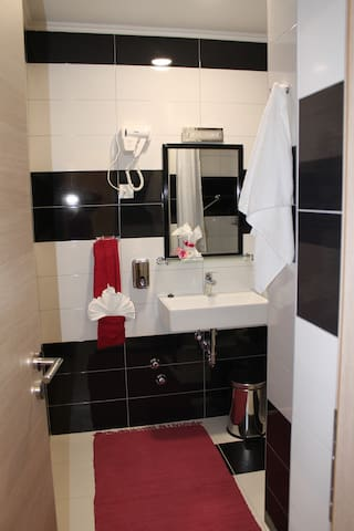 Each room with own bathroom with shower