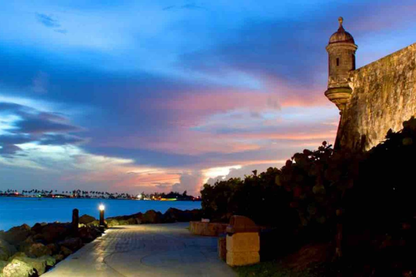 This is our capital, San Juan, our house is at 25 minutes ride away.  Walk by The Puerta de San Juan and San Felipe Del  Morro Fortress in Old San Juan, our capital..  Enjoy our beautiful sunsets...25 minutes ride from home.