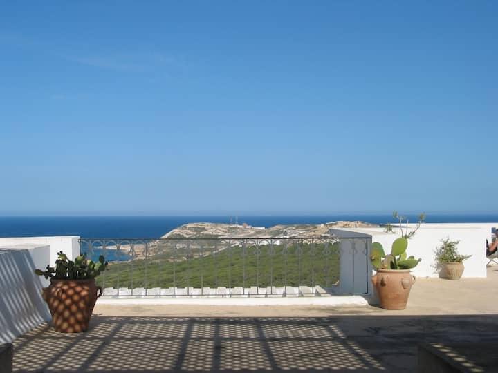 Villa overlooking the Mediterranean sea