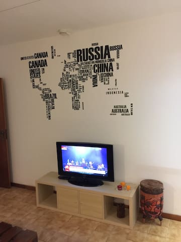 Sala com TV LCD