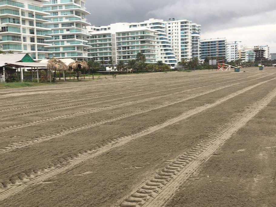El sector está conformado por edificios recientes con muy buenas características. La salida a la playa es directa, sin necesidad de cruzar vías.