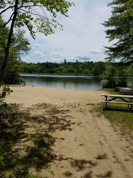 Large sandy beach just 60 steps away