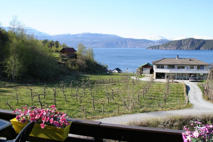 Room 2. Panorama view of the fjord! - Jondal - Huis