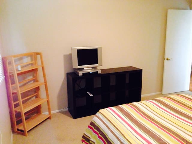Private bedroom with TV/DVR/Cable/internet and large closet